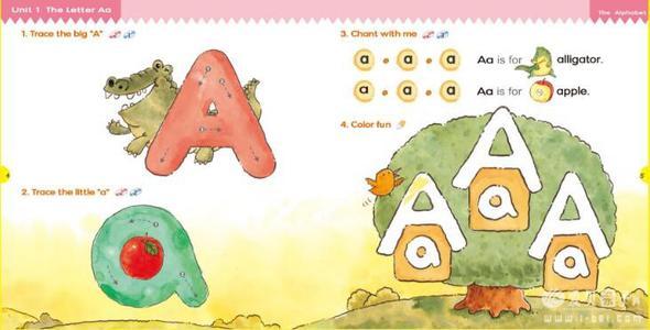 儿童英语启蒙phonicskids自然拼读教材 (1-6全套)点读版+普通版