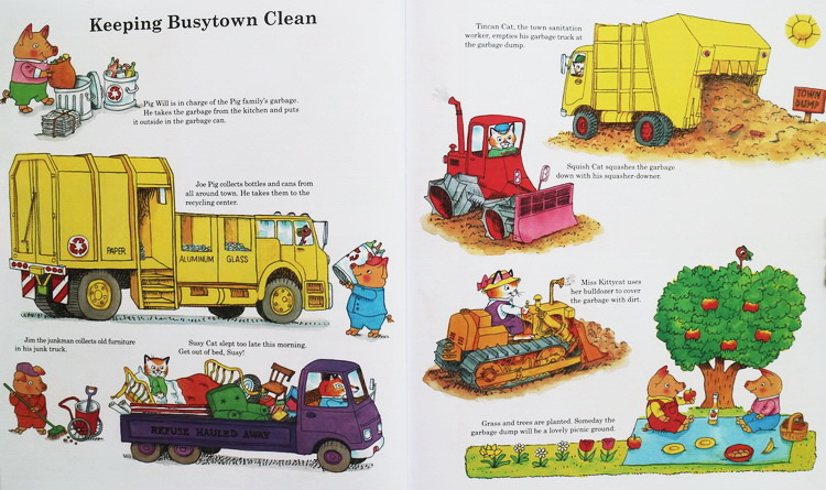 Richard Scarry Busy Day StoryBooks 理查德斯凯瑞忙忙碌碌镇系列绘本16册(PDF)